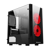 Case XIGMATEK SCORPIO II 2F (EN43415) - M-ATX, 2 SIDE TEMPERED GLASS, 2 FAN XIGMATEK X9